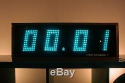 Perfect condition Nixie Tube Wall Clock Elektronika 7-06K 11-line 1991 USSR