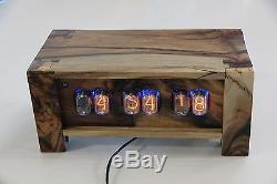 Pistachio In 12 Nixie Tube Clock- Made to order wifi enabled