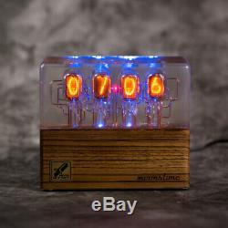 Premium Nixie Tube Clock IN-12 Retro Vintage. Zebrano wood