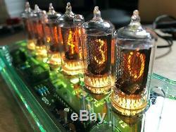 QTC+ Nixie Tube Clock +British ZM1080 Tubes +Glass-Tnt Plexi Case +PSU (Clock E)