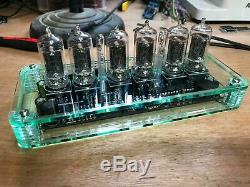 QTC+ Nixie Tube Clock German Z5700 Tubes +Glass-Tnt Plexi Case +PSU. (Clock B)