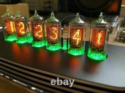 QTC+ Nixie Tube Clock+ German ZM1080 Tubes +Black/Silver Alloy Case +PSU. (1of2)