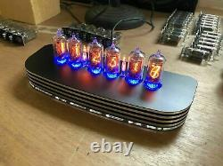 QTC+ Nixie Tube Clock+ German ZM1080 Tubes +Black/Silver Alloy Case +PSU. 2