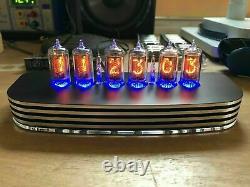 QTC+ Nixie Tube Clock+ German ZM1080 Tubes +Black/Silver Alloy Case +PSU. Last 1