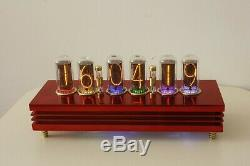 RED Ferrari Admiral Monjibox Nixie Clock large IN18 tubes WiFI NTP remote