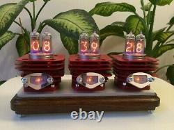 RED VRUUUM Monjibox Nixie Original Design IN14 tubes clock