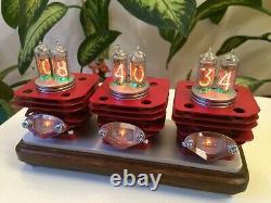 RED VRUUUM design by Monjibox Nixie Original IN14 tubes clock