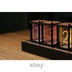 RGB Simulation Glow Tube Clock DIY Kit LED Desktop Decoration Nixie Tube Clock #