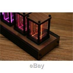 RGB Simulation Glow Tube Clock DIY LED Decoration Nixie Tube Clock Unassembled