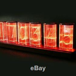 RGB Simulation Glow Tube Clock LED Nixie Digital Alarm WIFI Network Tomato Time