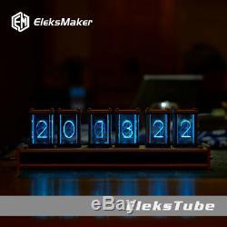 Retro Digital Clock Nixie Tube Clock KIT 6 Digit Tubes Date RGB LED Glow Clock