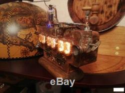 Retro Nixie Tube Clock on soviet tubes IN-12 Unique Hand Made with tubes