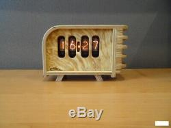 Retro Nixie Tube Clock on soviet tubes IN-8-2 Unique Hand Made with tubes