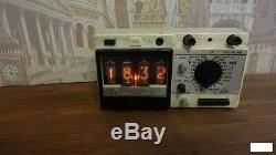 Retro Nixie Tube Clock on soviet tubes Unique Gift Hand Made with tubes Fallout