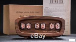 Retro Nixie Tube Clock on soviet tubes Vintage Hand Made Best Gift with Tubes