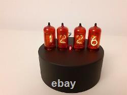 Round Simple Elegant Nixie Clock by Monjibox with German Z570M tubes