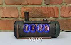 Skullshady NIXIE TUBES clock vintage retro hand made 3D Gift Art Deco Steam Punk
