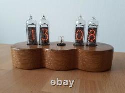 Snowman Jewel Series Monjibox Nixie Uhr Clock IN14 tubes Oak case