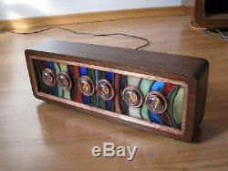 Stained Glass ZVAN by Jo Vitree artist Nixie Clock tubes Monjibox WiFi Sync