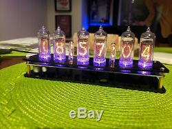 Steampunk Nixie Clock Fully Assembled NOS IN-14 Tubes