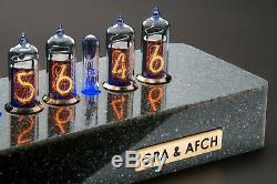 Synthetic Granite Case for Nixie Tubes Clock IN-14 IN-8(8-2) Z573 GRA & AFCH