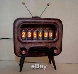 TV STYLE with Z5900M tubes Alarm Nixie Clock by Monjibox