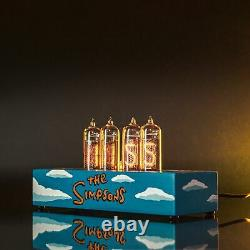 The Simpsons Nixie Tube Clock IN-14 Replaceable Nixie Tubes, Motion Sensor