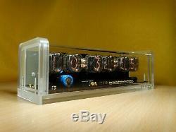 Unique 6 x IN-12 Nixie Tubes Clock acrylic case & green backlight & alarm