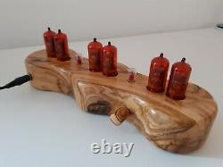 Unique Olive wood Dacian Series by Monjibox Nixie Clock Z570M German tubes