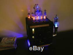 Unique WW2 US Navy Wavemeter Steampunk Nixie Clock -Lighting Effects, IN-8 Tubes