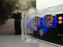 Unique retro style 6 x IN-12 Nixie Tubes Clock acrylic case & backlight & alarm
