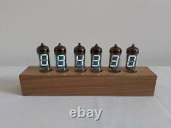 VFD Alarm Clock IV11 VFD tubes massive Oak case by Monjibox Nixie