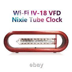 Vintage / IV-18 VFD Nixie Tube Alarm Clock Wecker Wooden WiFi Remote Control
