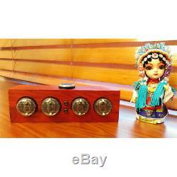 Vintage Mini IN-4 Nixie Glow Tube Clock Digital Wooden LED Desk Alarm Clock Gift