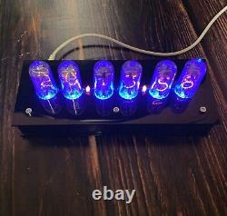 Vintage NIXIE TUBE CLOCK with IN-14 Plastic Case Vintage Tube Visual Effect USSR