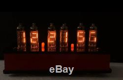 Vintage Numitron IV-9 6 digit Nixie clock with dividers and 12 (twelve!) spares