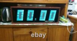 Vintage RARE VFD NIXIE Tube ELEKTRONIC Wooden Wall Clock Elektronika 7-06 K USSR
