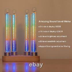Vintage RGB Tube Sound Level Meter Music Spectrum Visualizer Clock Ref Nixie Era