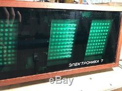 Vintage Rare Vfd Nixie Tube Electronic Wooden Wall Clock Elektronika 7-06k Ussr