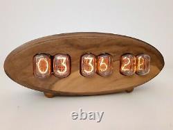 Walnut Series by Monjibox Nixie Clock IN12 tubes