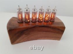 Walnut case Nixie Uhr clock IN16 tubes by Monjibox