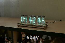 Wi-Fi ANUTA VFD IVLM-117 Tube Matrix Dot Desk Clock + ESP32 + Temp/Hum/Press