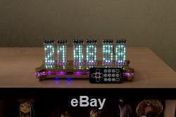 Wi-Fi ANUTA VFD IVLM-117 Tube Matrix Dot Desk Clock + case + remote Nixie Era