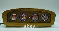Wooden nixie clock IN4 tube, RGB-multicolor backlight