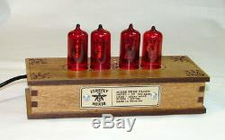 Wooden nixie clock Z570m tube, Red color backlight