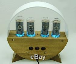 Wooden nixie clock in18 tube, RGB backlight