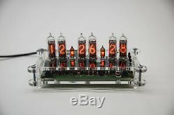 YANA NIXIE IN-16 Desk Clock + Case + Power Supply + Remote + RGB Steampunk Retro