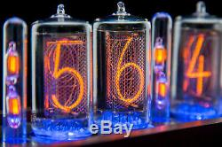 Z5660 NIXIE tubes Clock RGB Divergence Meter (as/IN-18) FAST delivery 2-3 Days