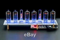 Z573 WHITE Nixie Tubes Clock Music USB Arduino Comp. GRA & AFCH