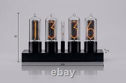 ZIN18 IN18 New Nixie Tube Clock Classic Black Aluminium Case WIFI Android/Iphone